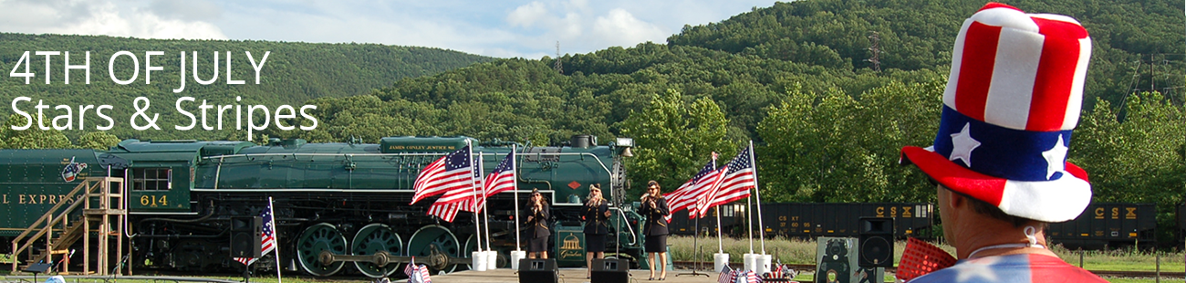 Visit Clifton Forge Virginia 4th of July Stars & Stripes