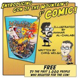 Free Comic Book to the first 1000 Participants.  Available for $2.