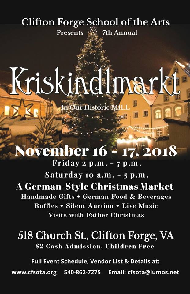 7th Annual Kriskindlmarkt 2018 Clifton Forge VA | Visit CLIFTON FORGE VA
